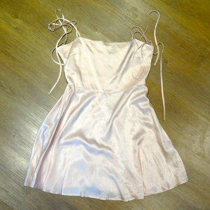 Forever 21 Satin-like Fit and Flare Dress